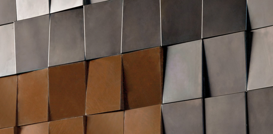 Indoor wall covering system metal - Decastelli Italian design
