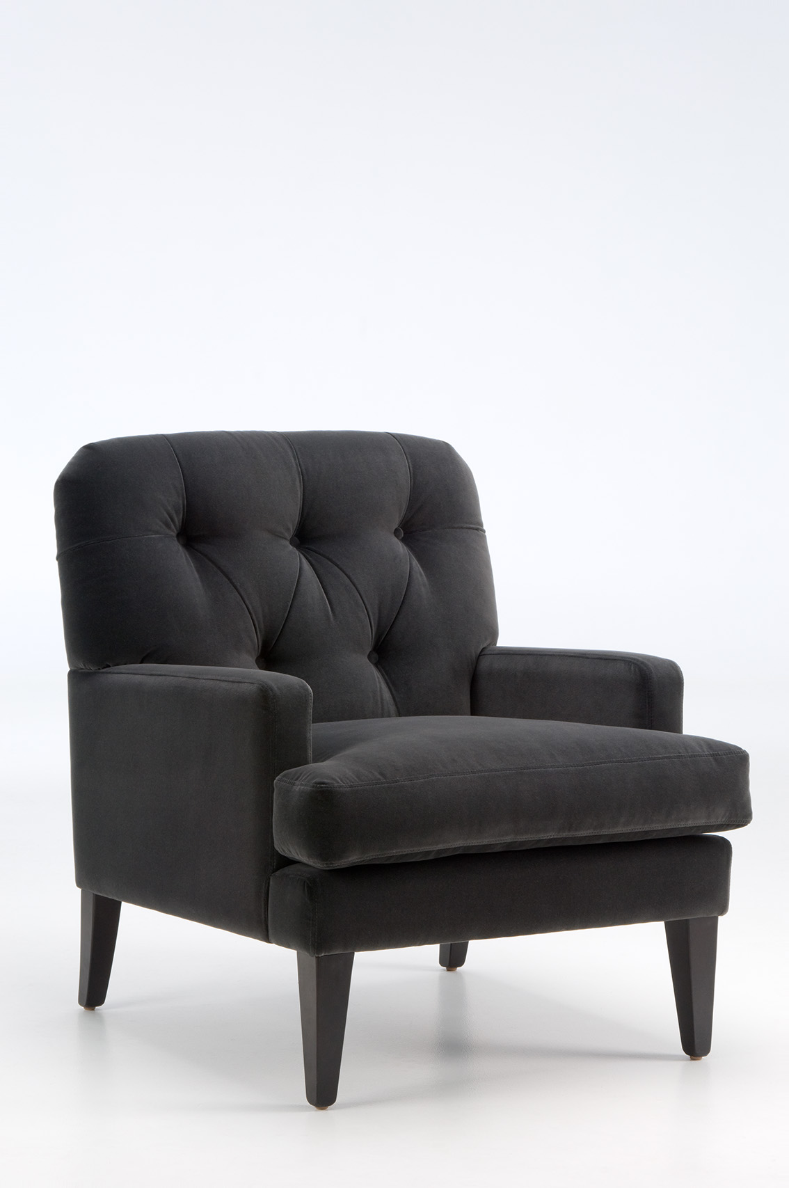 AMIEE SOFT CHAIR buttoned style - David Shaw bespoke furniture New Zealand