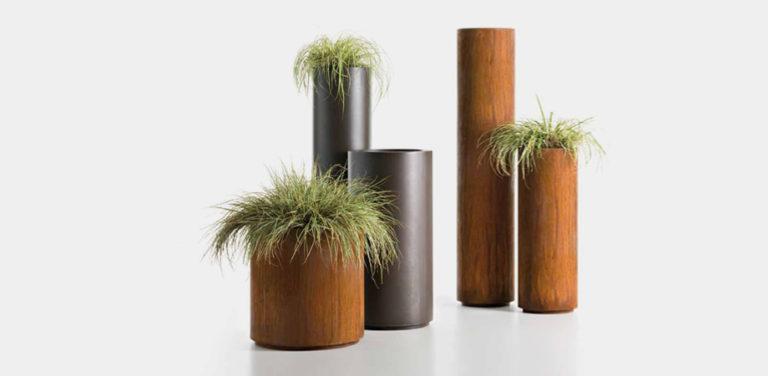 Cohiba cylindrical metal pots - Decastelli