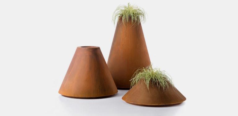 CONIQUE POT metal - Decastelli - David Shaw designer furniture