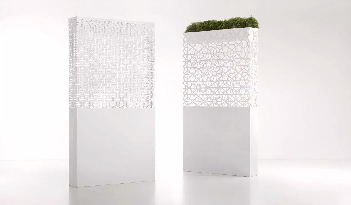 DEMETRA POT/LAMP flower box partition - Decastelli - David Shaw furniture accessories