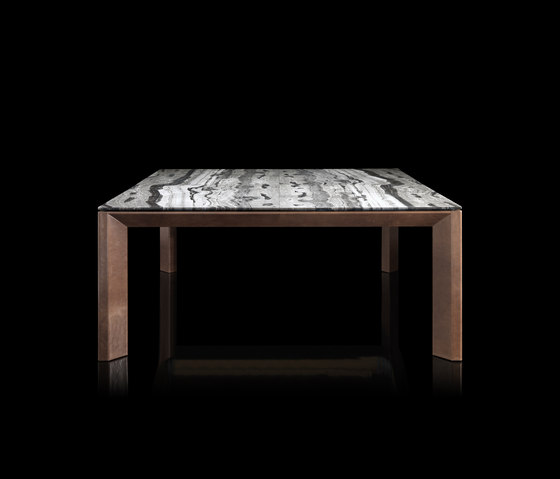 Soprano Wood Marble Table Top View