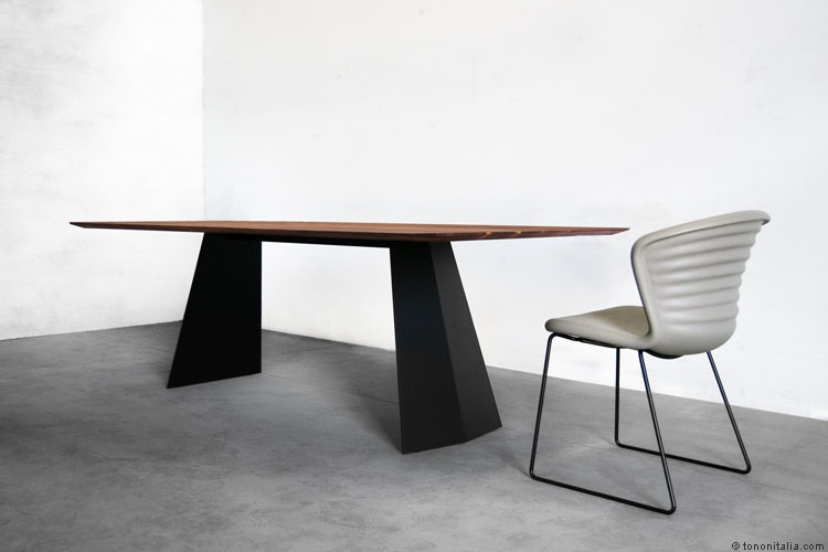 Steel 827 Table Wood