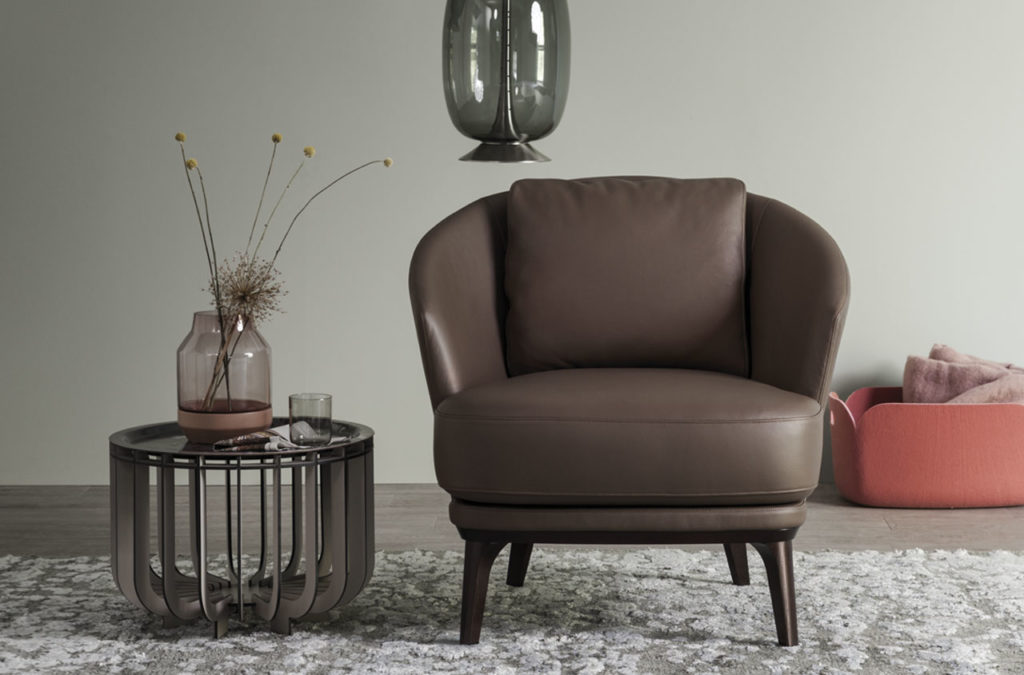Amy Easy Chair, Leather Brown