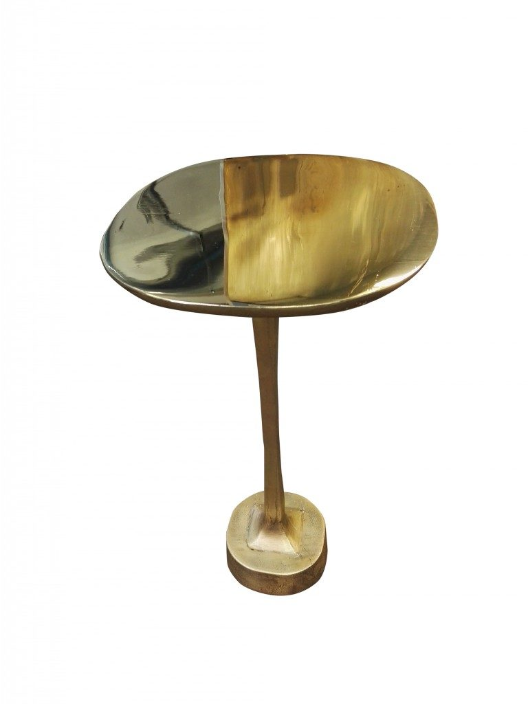 Mushroom brass table single