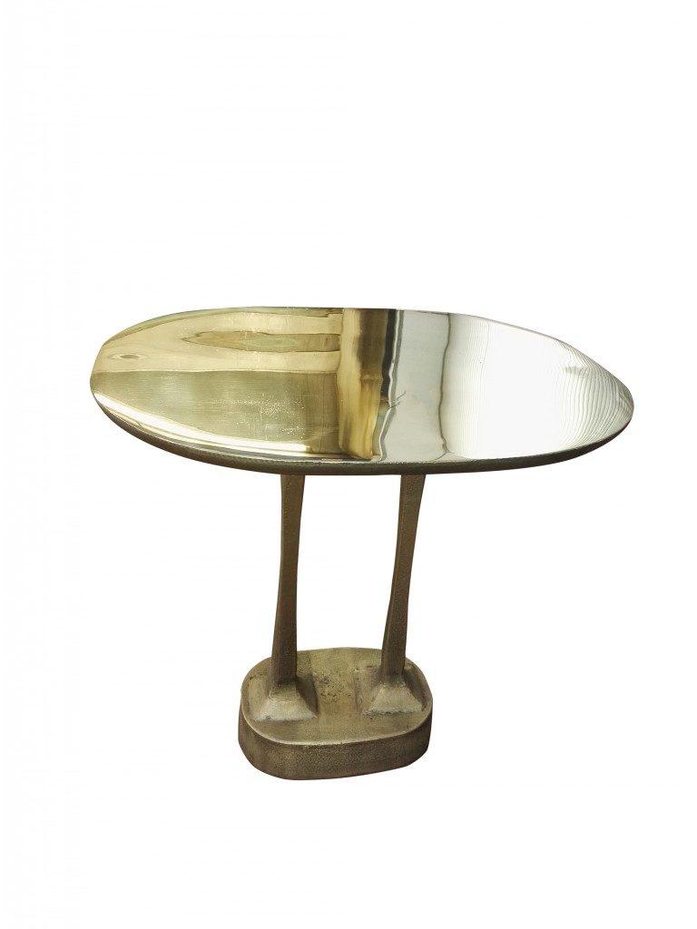 Mushroom brass table