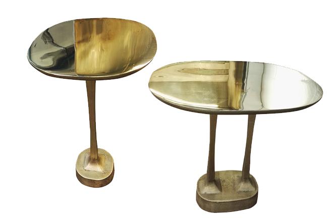 Mushroom brass table double
