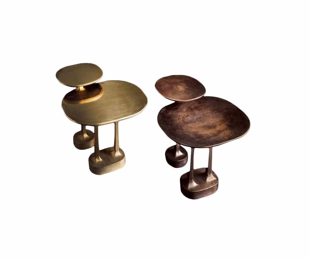 Mushroom brass and bronze table