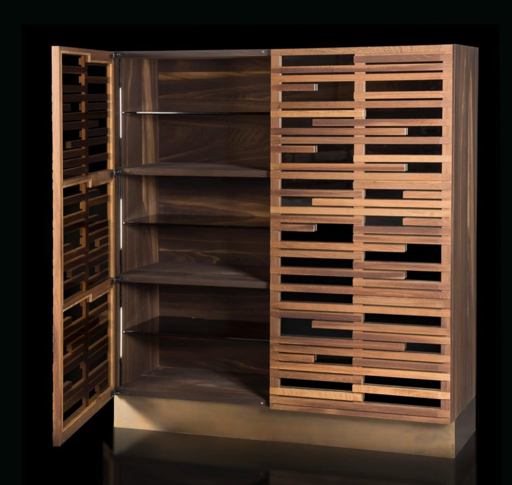 Jazz Heat-treated Oak, oil finish based on natural wax and water. Open view.