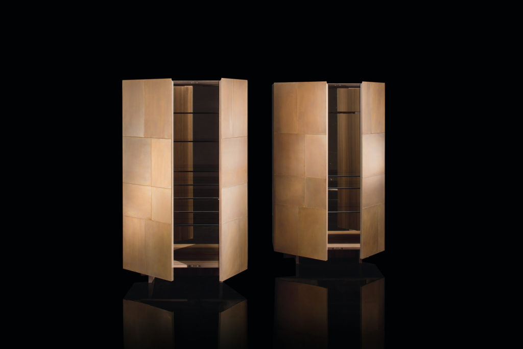 Slim Side Vertical Double Cabinet