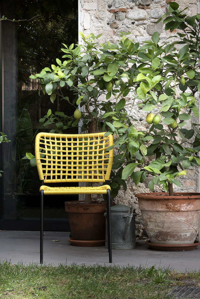 Corda Chair Display Outside Yellow