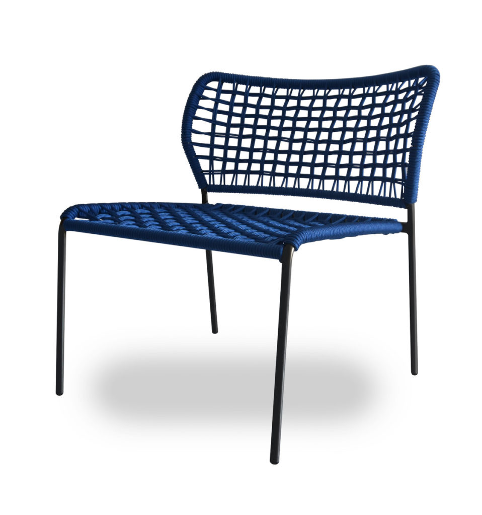 Blue Corda Chair