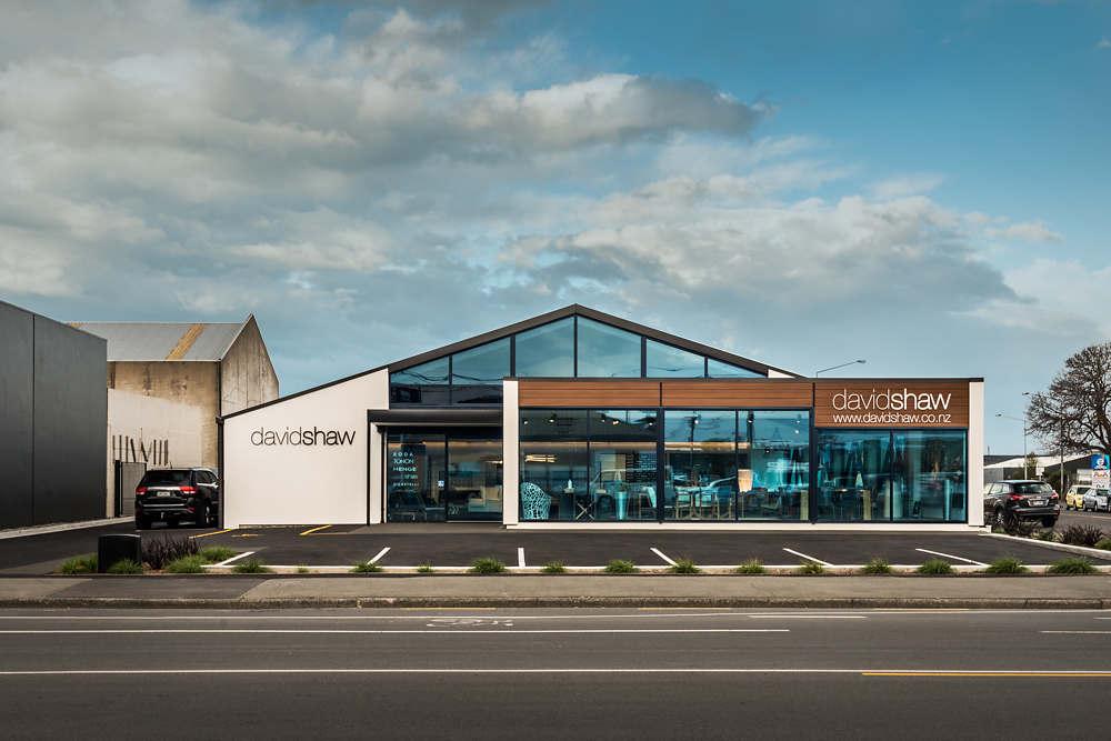 David Shaw showroom Christchurch exterior