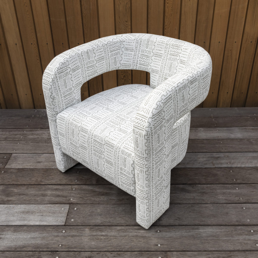 outdoor curved chair